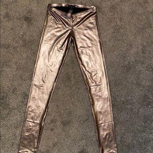 Metallic liquid leggings